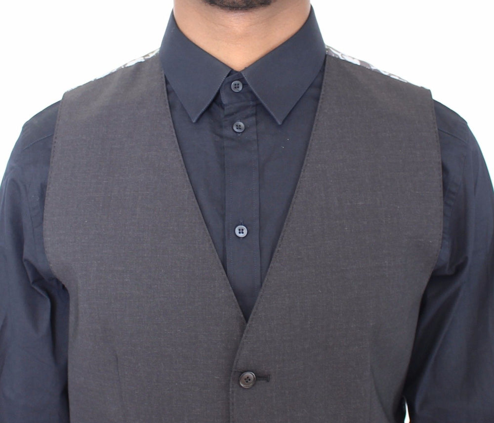 Load image into Gallery viewer, Gray Wool Stretch Dress Vest Blazer