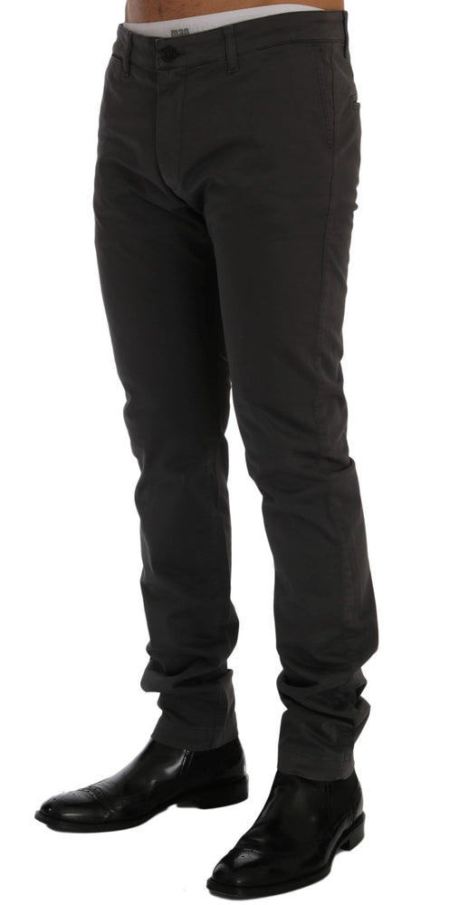 Load image into Gallery viewer, Gray Cotton Stretch Chinos Pants
