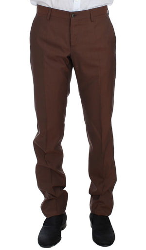 Load image into Gallery viewer, Brown Silk Wool 3 Piece Slim Fit Suit