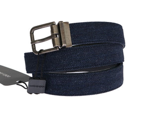 Load image into Gallery viewer, Blue Cayman Leather Cotton Belt