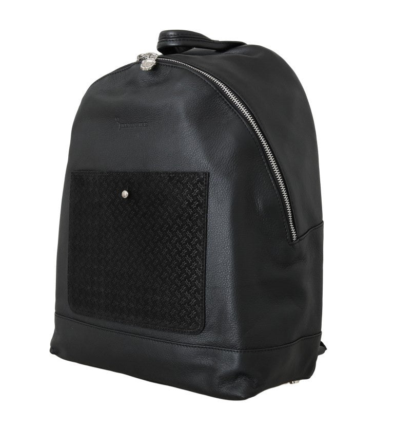Black Leather Backpack Bag - Go for Brands