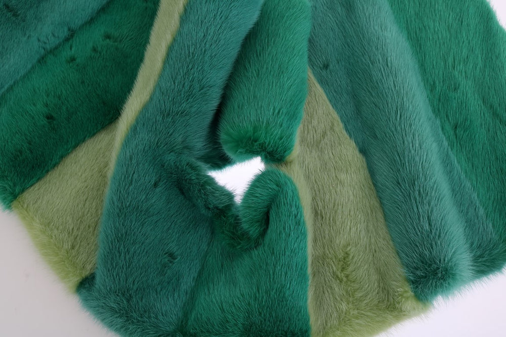 Load image into Gallery viewer, Green Mink Fur Scarf