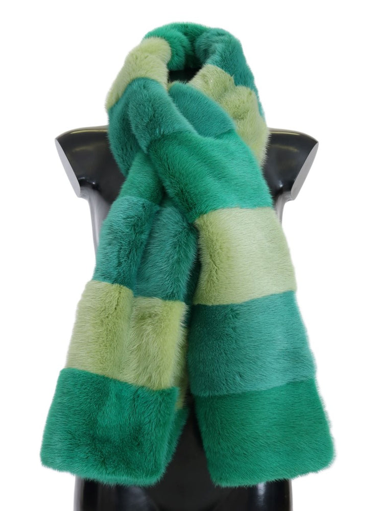 Green Mink Fur Scarf