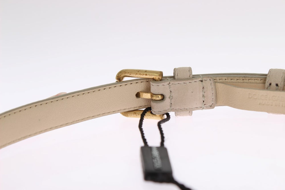 Load image into Gallery viewer, Beige Suede Leather Stones Crystals Belt