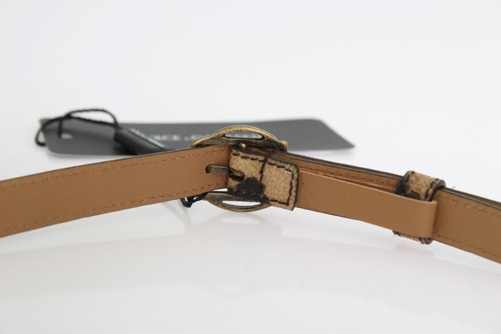 Load image into Gallery viewer, Brown Leopard Gold Buckle Belt