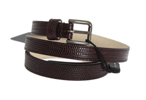 Load image into Gallery viewer, Bordeaux Leather Silver Buckle Belt