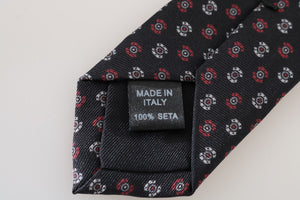 Load image into Gallery viewer, Black Silk Patterned Tie - Go for Brands