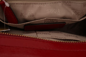 Load image into Gallery viewer, Red VIVIANNE Patent Messenger Bag