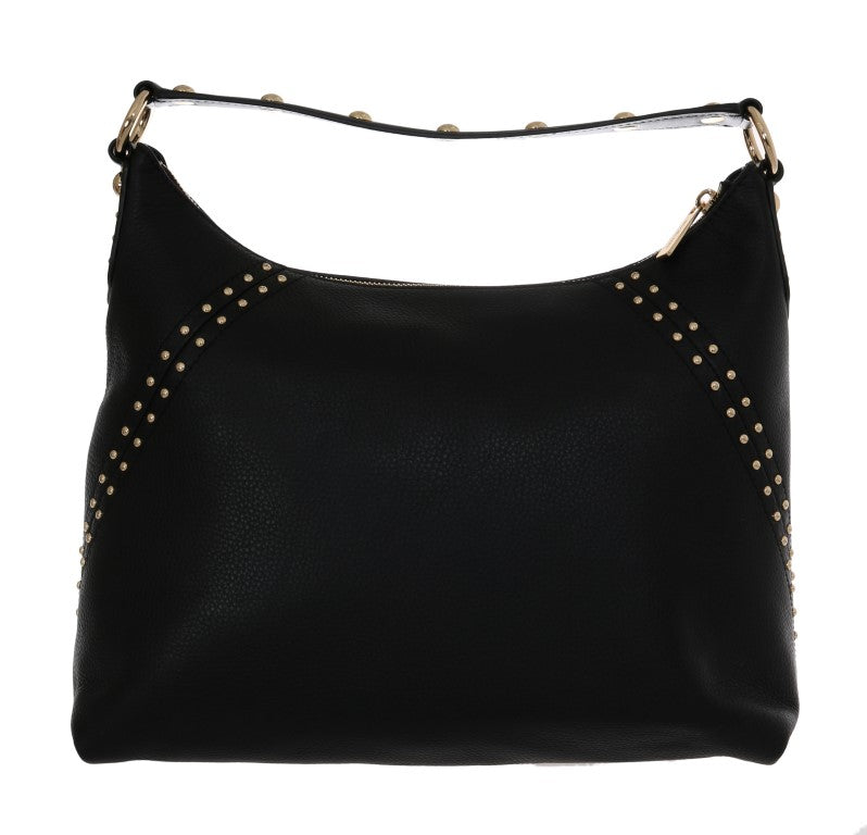 Load image into Gallery viewer, Black ARIA Leather Shoulder Bag