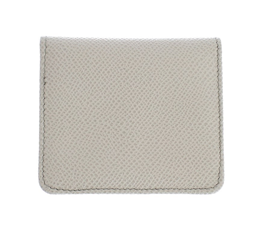 White Dauphine Leather Case Wallet - Go for Brands
