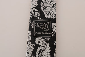 Load image into Gallery viewer, Black Silk Baroque Floral Print Tie - Go for Brands