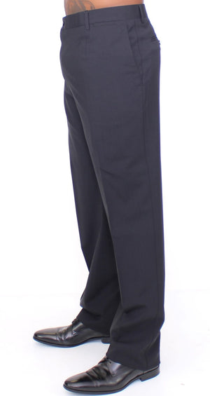 Load image into Gallery viewer, Black Wool Stretch Pleated Pants