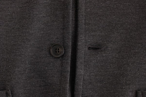 Load image into Gallery viewer, Gray Comfort Stretch Two Button Blazer
