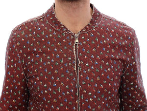 Load image into Gallery viewer, Bordeaux Leather Boxer Print Jacket Coat