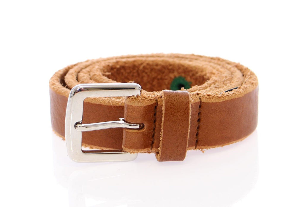 Load image into Gallery viewer, Brown Leather Logo Belt