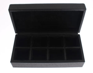 Load image into Gallery viewer, Black Leather Ring Cufflinks Organizer Box - Go for Brands