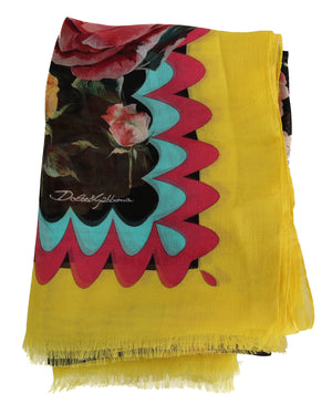 Load image into Gallery viewer, Multicolor Roses Silk Wrap Shawl