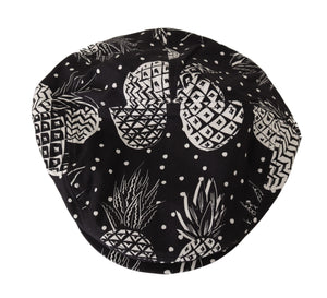 Load image into Gallery viewer, Black Cotton Pineapple Print Newsboy Hat - Go for Brands