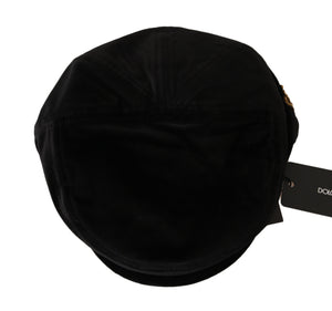Load image into Gallery viewer, Black Velvet Copper Crown Logo Newsboy Cap - Go for Brands