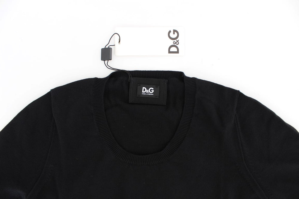 Load image into Gallery viewer, Black Crewneck Sweater T-shirt