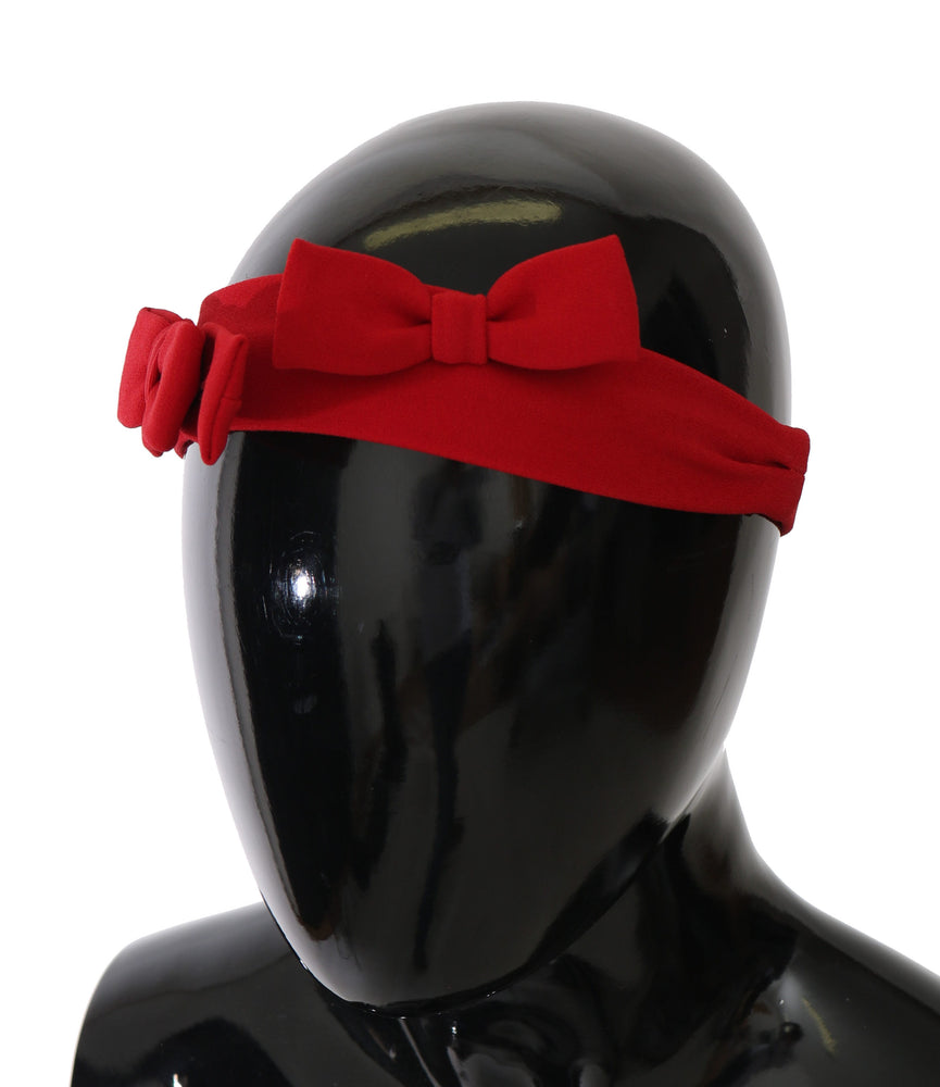 Load image into Gallery viewer, Red Bow Stretch Kids Headband