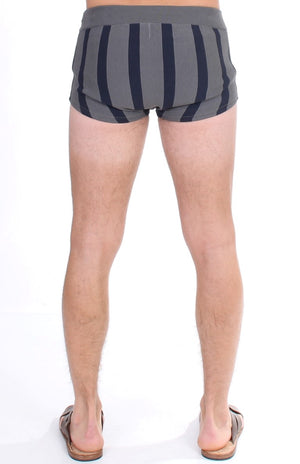 Load image into Gallery viewer, Gray Cotten Blend Logo Casual Short Shorts