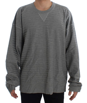 Load image into Gallery viewer, Gray Crewneck Pullover Silk Sweater