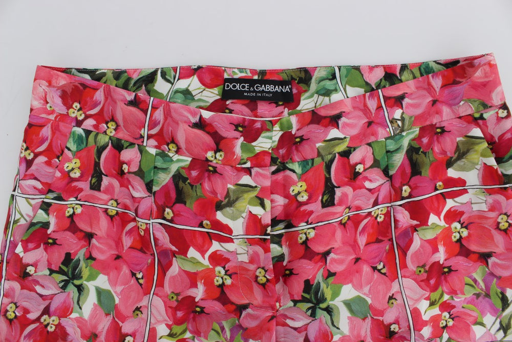 Load image into Gallery viewer, Multicolor Floral Knee Capris Shorts Pants
