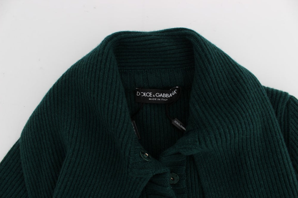 Load image into Gallery viewer, Green Knitted Cashmere Cardigan