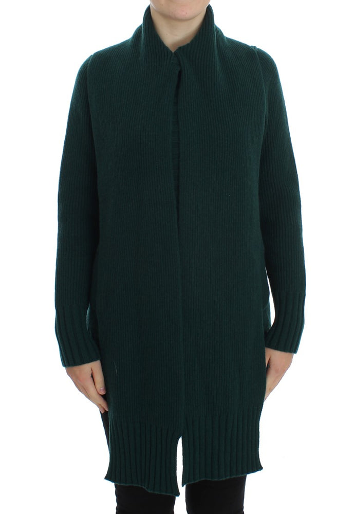 Green Knitted Cashmere Cardigan