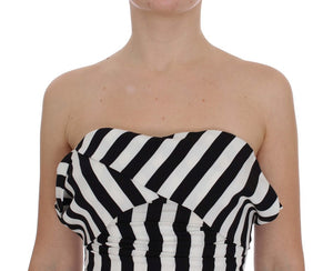 Load image into Gallery viewer, Black White Silk Stretch Dress