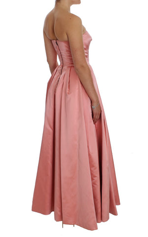 Load image into Gallery viewer, Pink Silk Ball Gown Full Length Dress