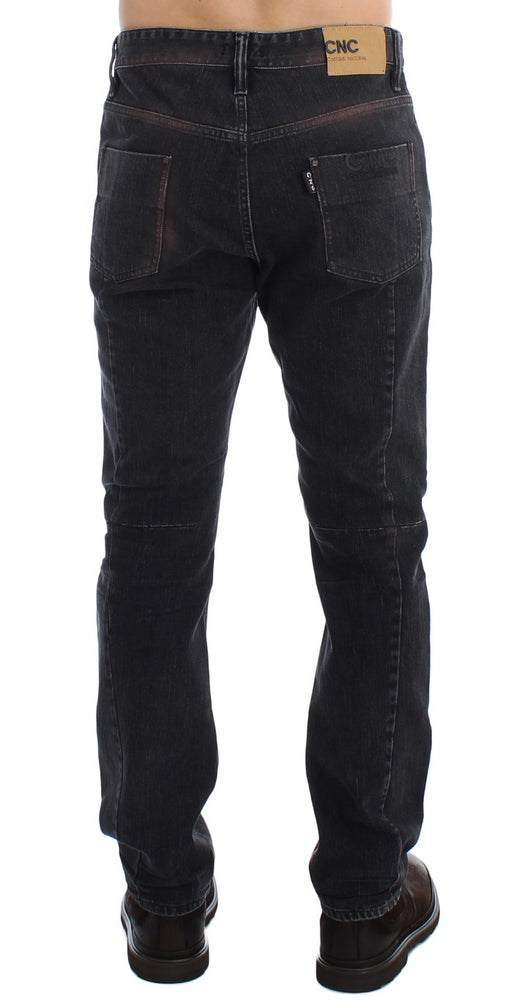 Load image into Gallery viewer, Gray Wash Regular Cotton Denim Jeans