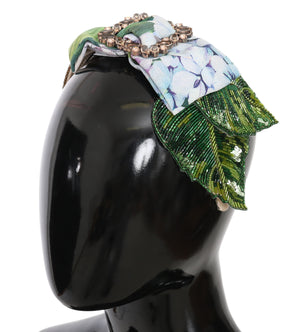 Load image into Gallery viewer, Floral Hortensia Crystal Diadem Headband