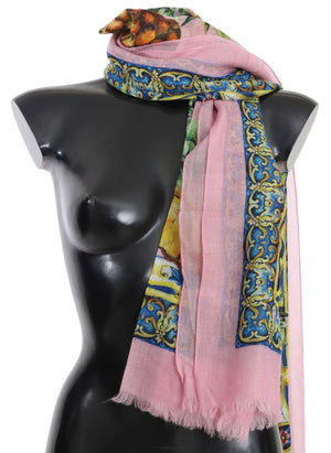 Load image into Gallery viewer, Pink Pineapple Print Cashmere Shawl 130cm x 190cm Scarf