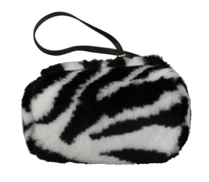 Load image into Gallery viewer, Black White Fur Cross Body Sling Girls Child SICILY Bag