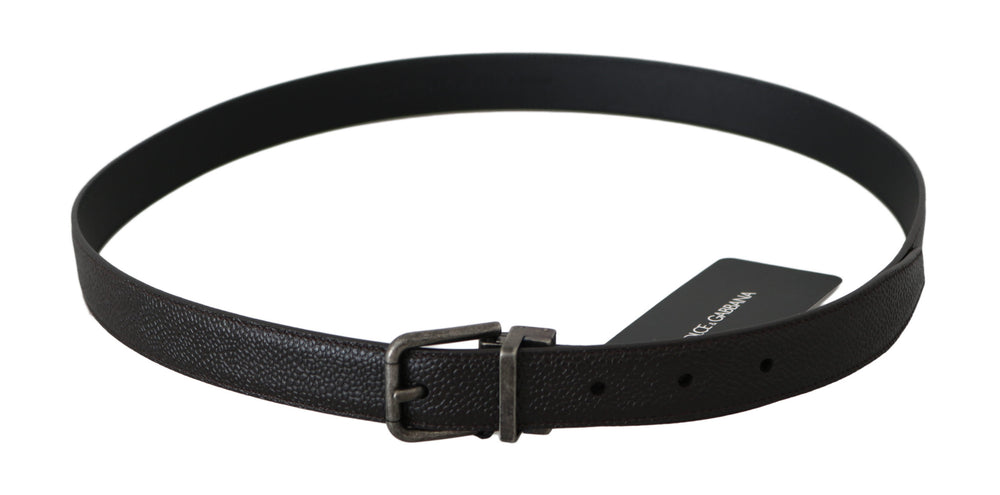 Load image into Gallery viewer, Gray Brushed Buckle Brown Leather Belt