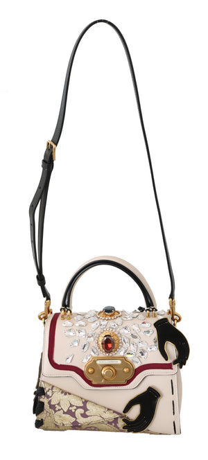 Load image into Gallery viewer, Multicolor Leather Crystal Crossbody WELCOME Bag
