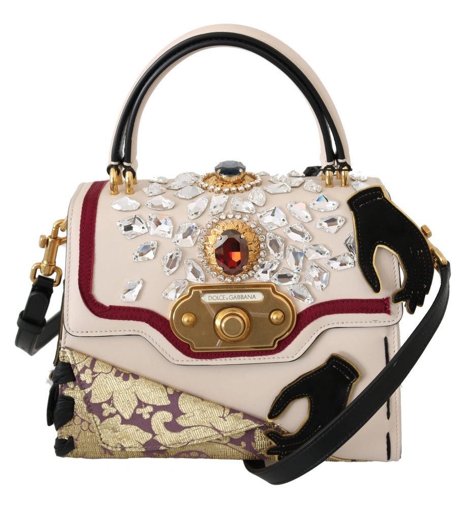 Multicolor Leather Crystal Crossbody WELCOME Bag