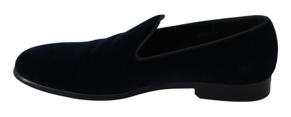 Load image into Gallery viewer, Blue Velvet Flat Loafers Slip Ons Shoes