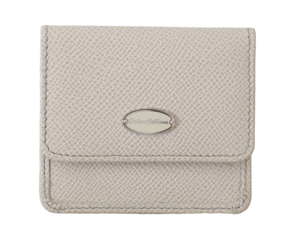 White Dauphine Leather Condom Pocket Case - Go for Brands