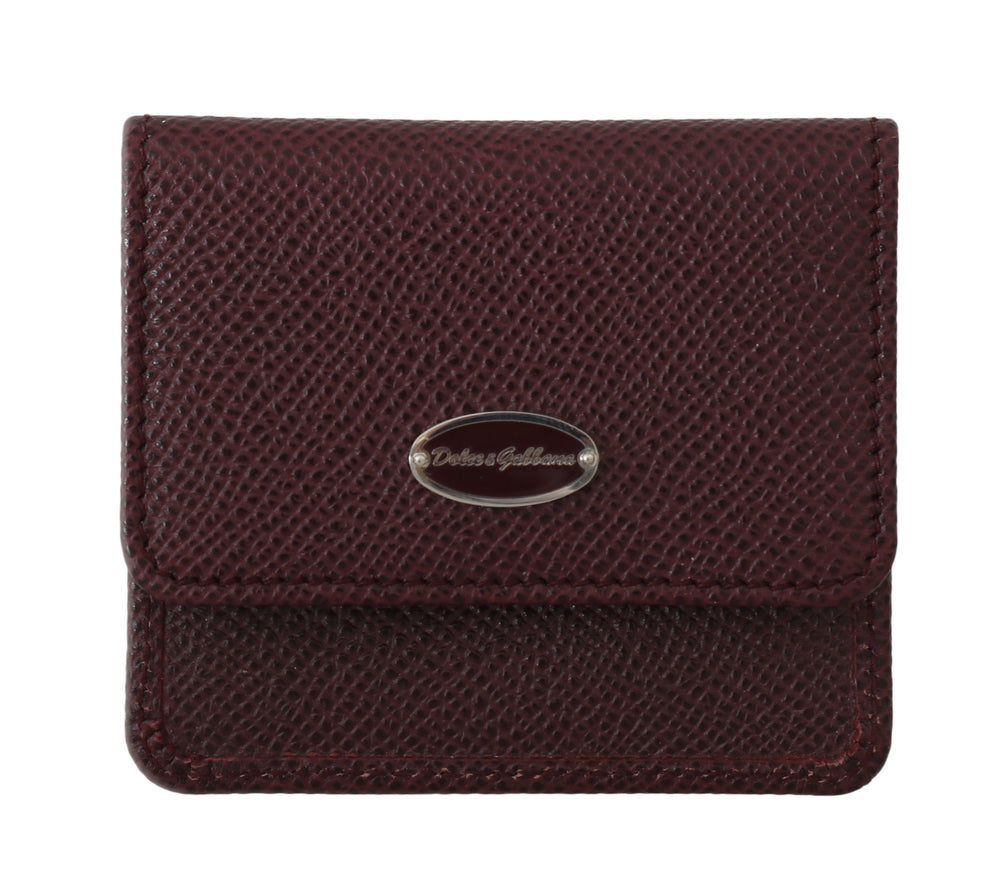 Bordeaux Dauphine Leather Condom Pocket Case - Go for Brands