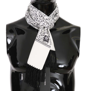 Load image into Gallery viewer, White Musical Instrument Print Silk Scarf