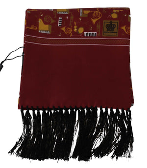 Load image into Gallery viewer, Maroon Musical Instrument Print Scarf