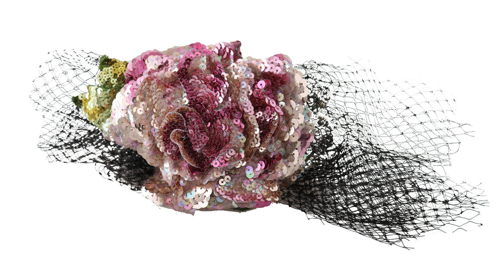 Load image into Gallery viewer, Tiara Multicolor Silk Floral Crystal Diadem Headband