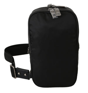Load image into Gallery viewer, Black Nylon Men Messenger Strap Crossbody Borse Bag