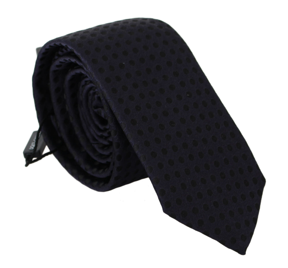 Load image into Gallery viewer, Blue Dotted 100% Silk Classic Necktie Tie