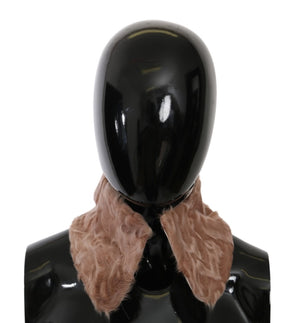 Load image into Gallery viewer, Beige Fur Shoulder Collar Wrap Lambskin Scarf
