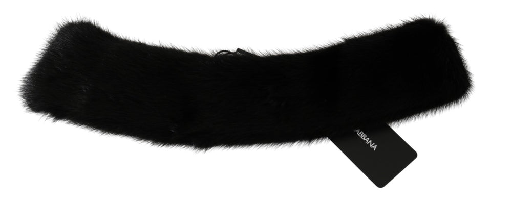 Load image into Gallery viewer, Black Fur Neck Collar 100%  Mink Scarf