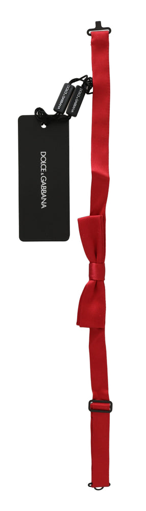 Load image into Gallery viewer, Red 100% Silk Slim Adjustable Neck Papillon Bow Tie